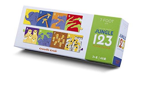 Crocodile Creek Riesen Bodenpuzzle Dschungel 123 mit 48 Teilen (Crocodile Creek-48 Teile Puzzle)