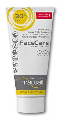 mawaii - FaceCare SPF 30, Anti-Aging Outdoor Sport Sonnenschutz, 75ml