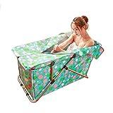 HQCC Falt-Badewanne für Erwachsene (grün) Schaum Jacuzzi Kinderspiel-Badewanne (größe : 108 * 54 * 51CM)