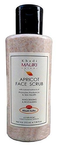 Khadi abricot gommage visage - Dead peau Remover et Revitalise Santé de la peau - 210 ml