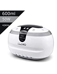 Ultrasonic Cleaner VLOXO 600ml Jewelry Dentures Glasses Bath Cleaner Professional Sonic Washing Machine for Jewelry Eyeglasses Watches Coins Razors Dentures Tools newest version