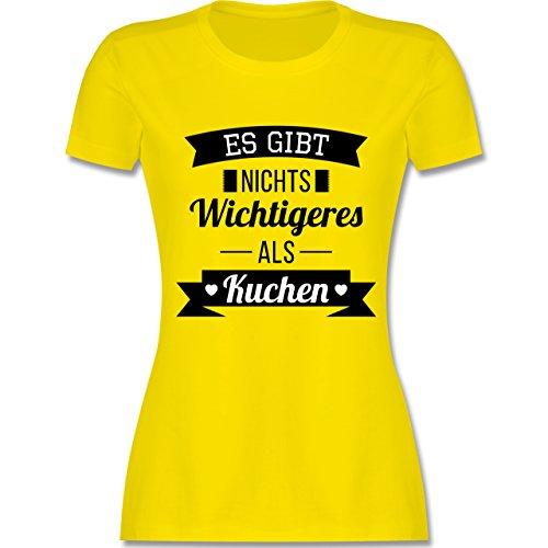 Statement Shirts - Es gibt nichts Wichtigeres als Kuchen - tailliertes  Premium T-Shirt mit