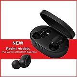 per Xiaomi Redmi AirDots, TWS Bluetooth 5.0 Cuffie Stereo Bass Cuffie Senza Fili 300mAh Scatola di Ricarica True Stereo Sound Mini auricolari Bluetooth Fili Auricolare Anti-sudore IPX4 con Microfono