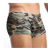 Boxershorts Herren,Rosennie Flache Unterwäsche Baumwolle Unterhosen Männer Boxershorts Camouflage Badehose Drucken Unterhose Mode Reizwäsche Nachtwäsche,Plus Size Shorts Slip Hot Pants(Tarnung,XL)