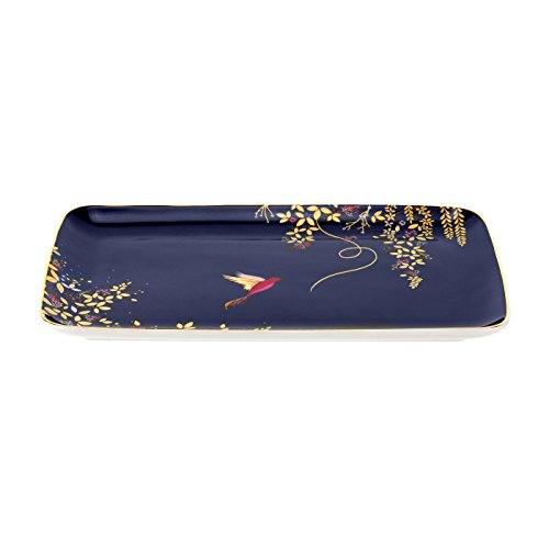 Sara Miller für Portmeirion Chelsea Trinket Tablett, Keramik, Blau, 1.6cm x 19cm x 12cm (H x W x D) -