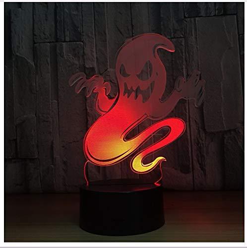 Geist 3D Led Nachtlicht Ändern Lampe Halloween Schädel Licht Acryl 3D Hologramm Illusion Schreibtischlampe Für Kinder Geschenk