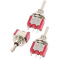 sourcingmap 3 piezas ON/OFF/ON 3 POSICIÓN Interruptor pulsador SPDT CA 120V/250V 5A/2A