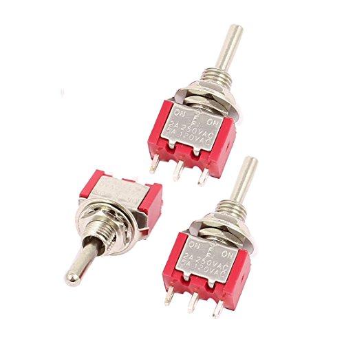 Descripción:3 terminales SPDT ON/OFF/ON 3 Coloque el interruptor basculante.Puede utilizarse en baja tensión o los circuitos de alta tensión ideal para conectar las luces o los motores. Cada conmutador viene con dos tuercas hexagonales, una TV y una ...