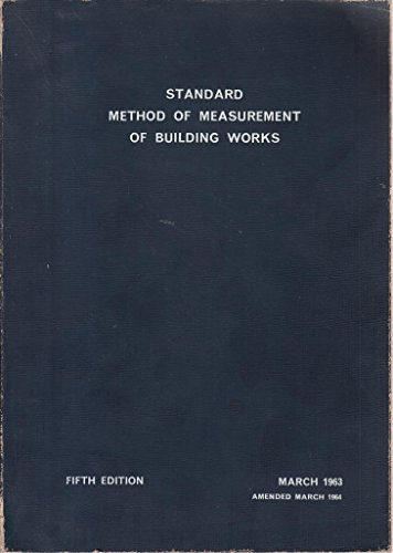 standard-method-of-measurement-of-building-works-fifth-edition