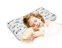 Kissen Für Kinder, Romanstii Weiche Bio-baumwolle Bett Kopfkissen, Schöne Tier Muster Für Baby Kids Kleinkind Schlafende Kinderbett Bett Kissen