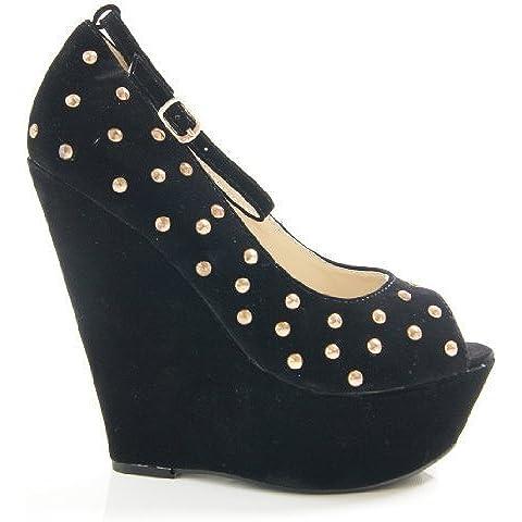 Solewish - Zapatos de vestir de sintético para mujer