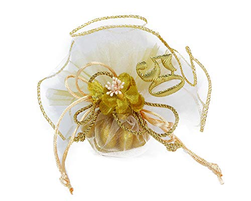 Bomboniere nozze d oro tulle portaconfetti fiore e applicazione 50esimo