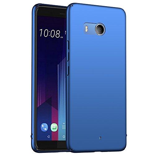 ORNARTO HTC U11 Hülle,Ultra Dünn Schlank Stoßfest, Anti-Scratch FeinMatt Einfach Handyhülle Abdeckung Stoßstange Hardcase für HTC U11 5.5\'(2017) Blau