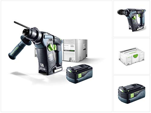Festool BHC 18 Li Basic Taladro Inalámbrico Sds-Plus 574723 en Systainer + 1 x BP 18 Li 5,2 AS...