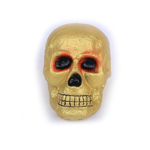 Schädel aus Schaumstoff, Schädel Kopf Modell Deko, Totenkopf Halloween/Room Escape Requisiten/Spukhaus Dekoration, circa 25 x 18 cm (Golden (Lebensgroße Halloween Requisiten)
