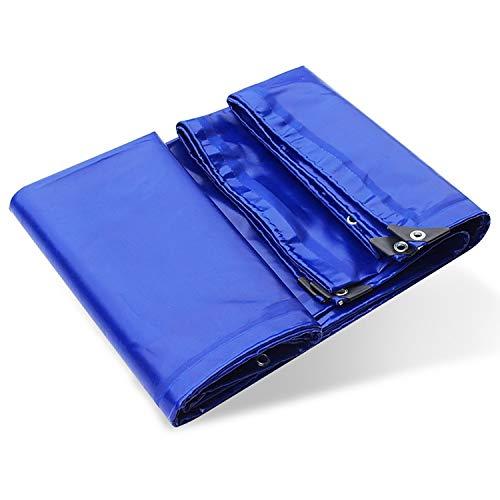 Planen Plane wasserdicht, blau PVC Poly Plane, 24 Mil Markise/Auto Pergola Reversible Sunblock Block Stoffplane mit Ösen (Color : Blue, Size : 3x3m) Reversible Block