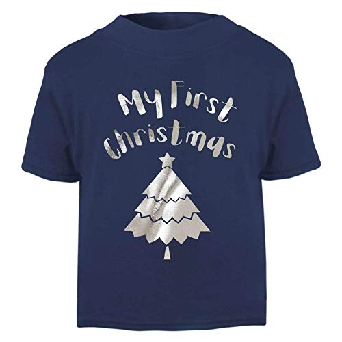 Tees In The Wood My First Christmas with Tree Baby and Toddler Short Sleeve T-Shirt