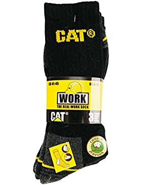Caterpillar Herren Socken Real Work Arbeitssocken, 3er Pack