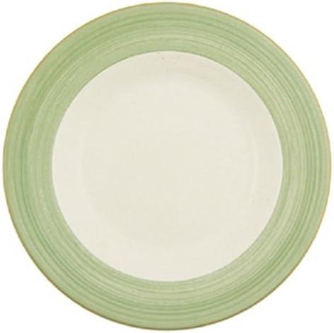 Steelite V2875 Rio Slimline Slimline Slimline piatti, 255 mm, verde (confezione da 24) | Il materiale di altissima qualità  | Uscita  5e97c5