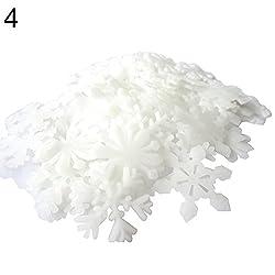 yibenwanligod Adhesivos Decorativos para Pared 50 Unidades dise o de Copo de Nieve Brillante para habitaci n de beb de
