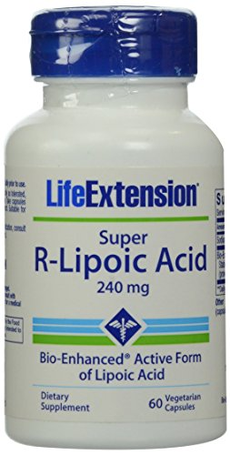 Life Extension Super R-Lipoic Acid (60 Vegetarian Capsules) 240mg Test