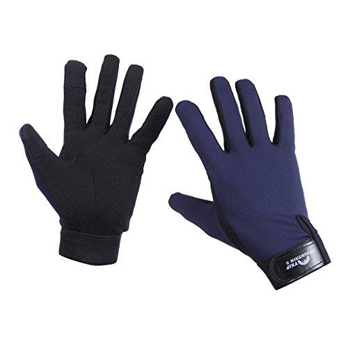 HYSENM Trikot Atmungsaktiv Schnell-Trocken Leicht Weich Warm-Halten Rutschfest Handschuhe Für Herren Und Damen Outdoor Camping Angeln Jagen Fahrrad Bergsteigen Gloves, dunkelblau, M