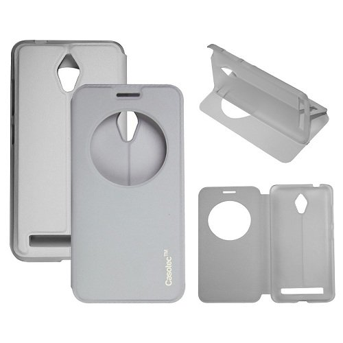 Casotec Premium Kickstand Caller-id Flip Case Cover for Asus Zenfone 5 A500CG - White  available at amazon for Rs.249