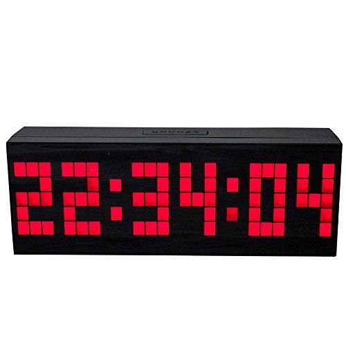 LambTown Reloj Grande Pared LED Múltiples Alarmas