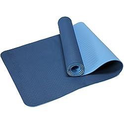 MaxYoga / Material ecológico TPE. Antideslizante y ligero con grosor de 6mm, 183x61 cm. Azul oscuro