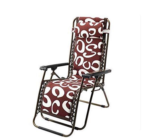HhGold Sofa Betten Plus Baumwolle verdickt Klappstuhl faul Sofa reduziert DREI-Fach rot Stahl Orange Mittagspause Stuhl faul Sofa (Farbe optional) (Farbe: B) (Farbe : -, Größe : -) -