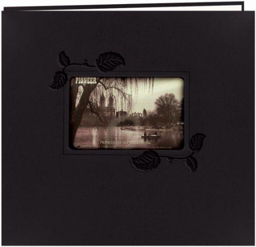 pioneer-embossed-leatherette-post-bound-album-12x12-black-w-ivy