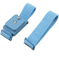SODIAL(R) Bracelet antistatique elastique reglable sans fil bleu + Bande de rechange