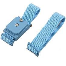Sourcingmap a12062000ux0281 - Azul ajustable elástica muñeca antiestática correa de pulsera inalámbrica