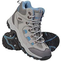 Mountain Warehouse Chaussures de randonnée Adventurer imperméables pour Femme - Robustes et Respirantes - Tige en synthétique et Doublure en Filet - Semelle coussinée Gris Clair 38