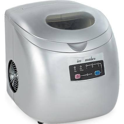 Gino Gelati IC-150W Digitaler Eiswürfelbereiter Eiswürfelmaschine Icemaker max. 15 Kg/24 h