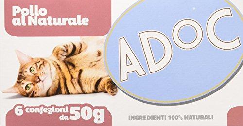 Adoc Naturale Pollo per gatti adulti, 8 confezioni multipack da 6 pezzi