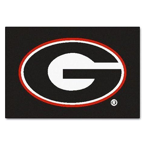 FANMATS NCAA University of Georgia Bulldogs Nylon Face Starter Rug by Fanmats