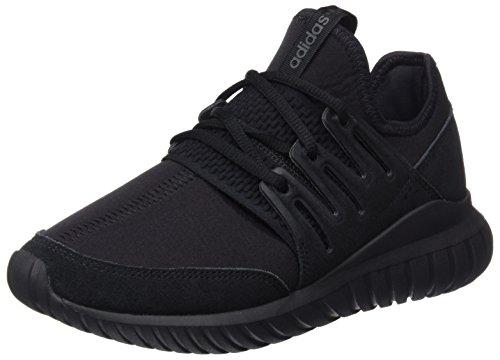 adidas Unisex-Erwachsene Tubular Radial Low-Top, Schwarz (Core Black/Core Black/Dark Grey), 43 1/3 EU