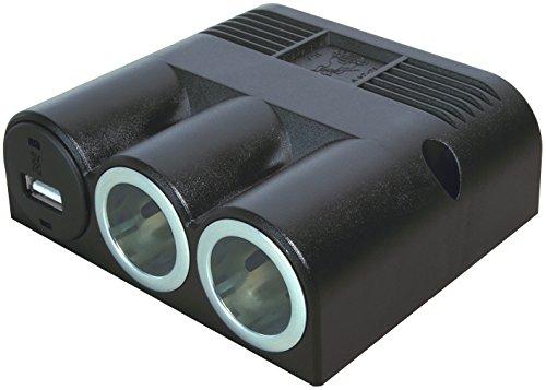 Preisvergleich Produktbild ProCar 67314000 Aufbau 3-Fach Steckdose 2 x Power 12 VDC
