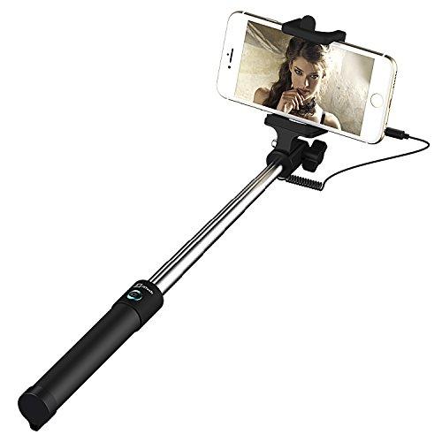 Palo Selfie, JETech Selfie Stick De una Sola Pieza en Forma de U Selfi