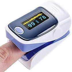 LiféUP Oxímetro De Pulso Para Dedo Medidor De Saturación De Oxígeno En Sangre Monitor De Frecuencia Cardíaca Lectura De Pantalla OLED,Oxímetro De Pulso De Dedo - Pulsómetro Con Pantalla OLED