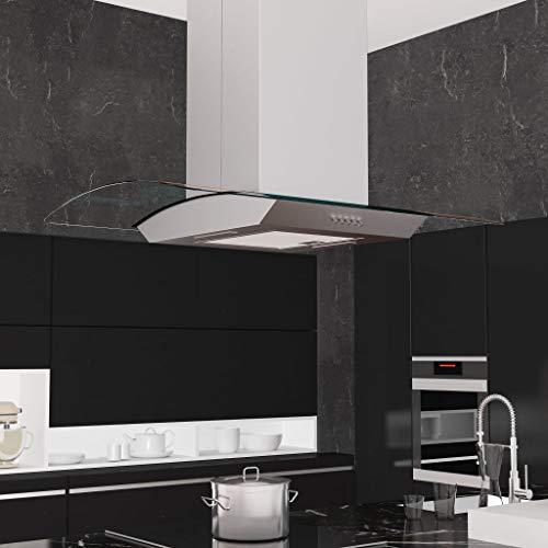 Zora Walter Campana extractora de Techo 90 cm Acero Inoxidable 756 m³/h LED Electrodomésticos de Cocina con un Filtro de Grasa de Aluminio Lavable de 3 Capas