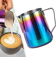 ابريق قهوة اسبريسو من الستانلس ستيل، سعة 350 مل، 600 مل، 1000 مل مع مقياس متدرج، لتحضير الباريستا والقهوة والا