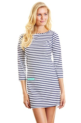 Cabana Life Stripe Beach Damen Kleid M Coastal Crush (Swimwear Beach Cabana)