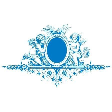 Rayher Schablone Engel mit Ornament, Din A5, Gummi, Blau, 2.6 x 1.61 x 0.02 cm, 4 -Einheiten
