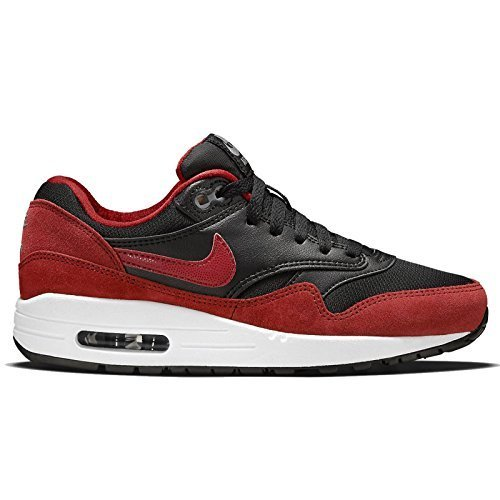 Nike Youths Air Max 1 Black Red Synthetic Trainers 38 EU