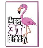 Pink Flamingo 31. Geburtstag–Damen–Tochter–Geburtstagskarte für Enkelin–Schwester–Freund