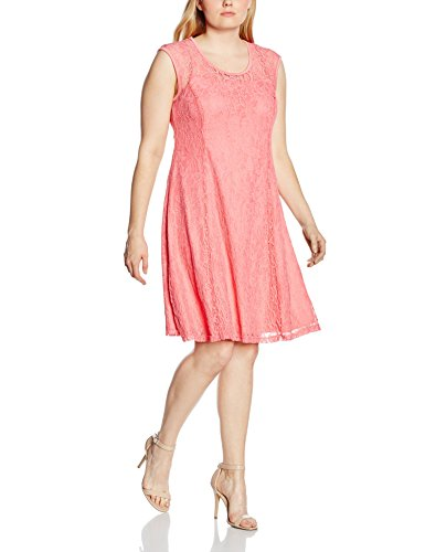 Zizzi Damen A-Linie Kleid Dress, above knee, Mini, Einfarbig Rosa (Confetti 1305)