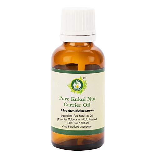 Kukui Nuss Träger Öl 100ml (3.38 Unzen) - Aleurites Moluccanus (100% reines und natürliche Kaltgepresste) Pure Kukui Nut Carrier Oil ()