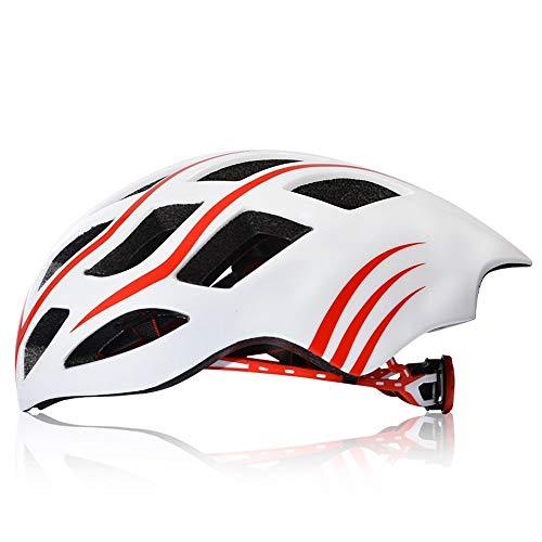 JGWHW Fahrradhelm, Fahrrad Fahrradhelm mit Sonnenbrille Erwachsene Bike Racing Visier Abnehmbar mit Liner verstellbar (Farbe : Style E) -